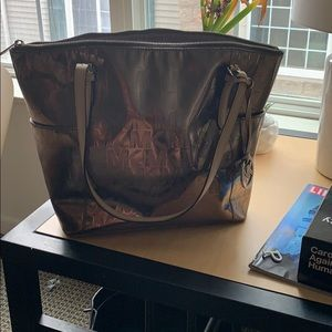 Champagne/grey colored Michael Kors large purse